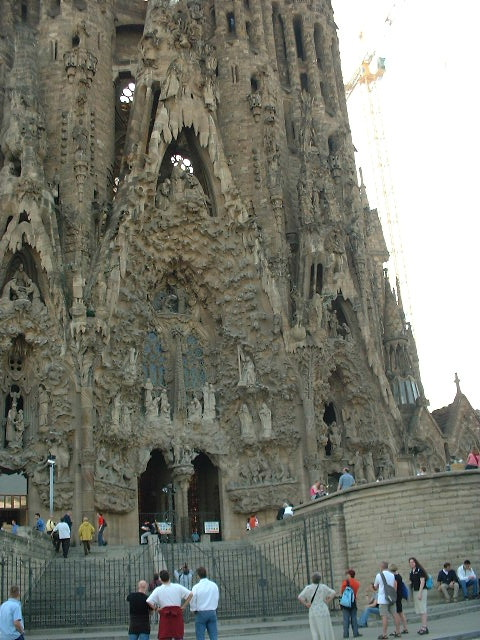 Detail of the Sagrada Familia